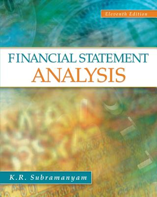 Financial Statement Analysis By Subramanyam, K. R./ Wild, John